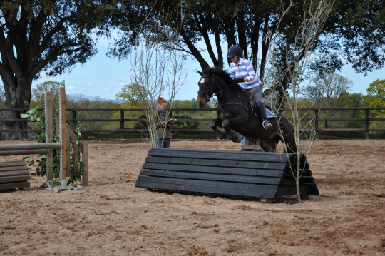 Faith Jumping at Arena Eventing